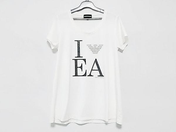 size 40 a444f 6c31d エンポリオアルマーニ 半袖Tシャツ サイズM レディース 白×黒 ラインストーン
