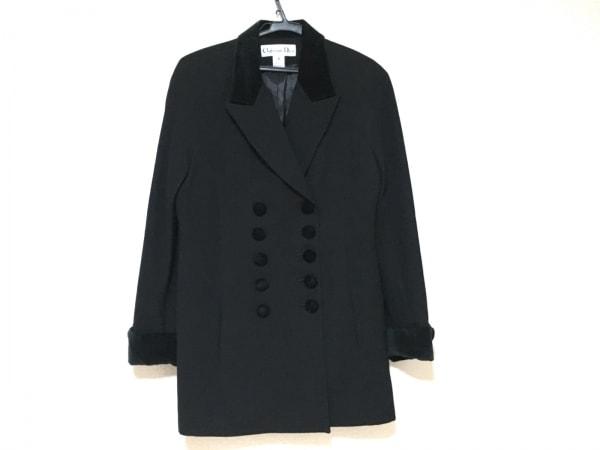 クリスチャンディオール コート サイズ4 XL レディース美品  黒 肩パッド/冬物