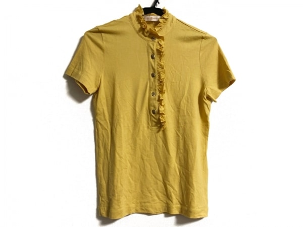 TORY BURCH(トリーバーチ) 半袖ポロシャツ サイズS レディース イエロー フリル