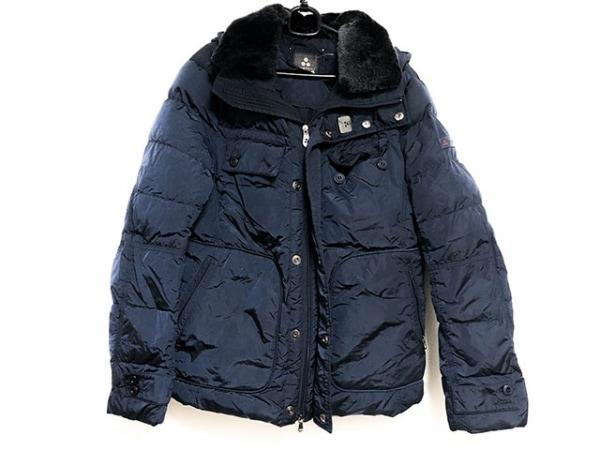PEUTEREY(ピューテリー) ダウンジャケット サイズ50 メンズ美品  ダークネイビー 冬物