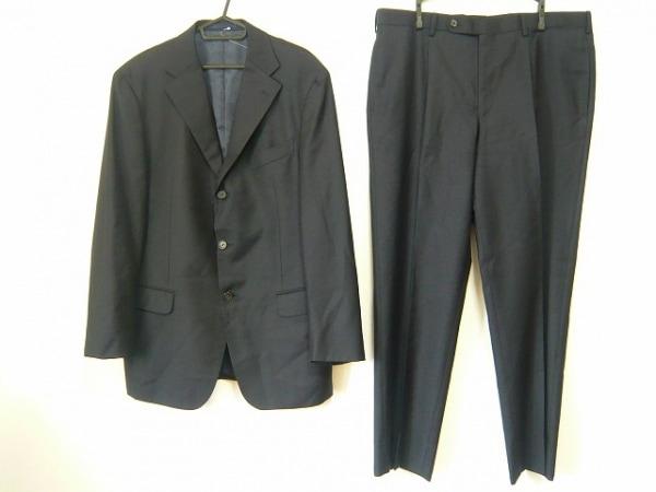 ヒューゴボス×バーニーズニューヨーク シングルスーツ サイズ52 メンズ 黒