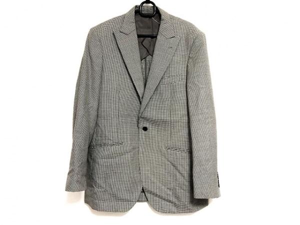 TERRIT(テリット) ジャケット サイズ50 メンズ美品  アイボリー×黒 千鳥格子