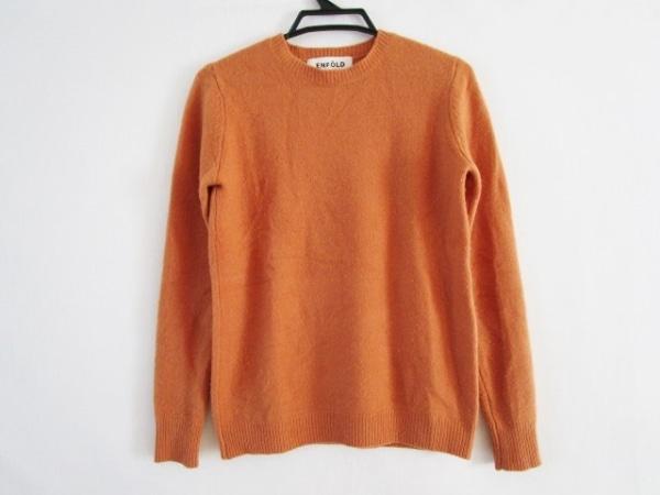 ENFOLD(エンフォルド) 長袖セーター サイズ38 M レディース オレンジ