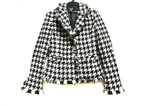 リトルニューヨーク コート サイズ4 XL レディース美品  白×黒 千鳥格子/冬物
