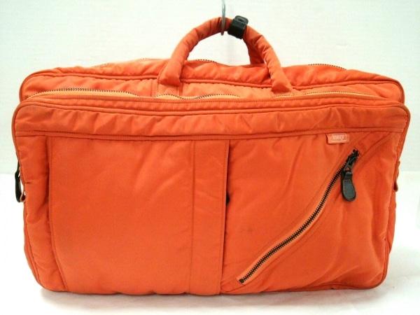 HARVEST LABEL(ハーベストレーベル) ボストンバッグ オレンジ ナイロン