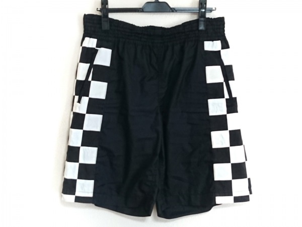 コムデギャルソンオムプリュス ショートパンツ サイズM メンズ 黒×白