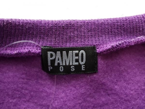 PAMEO POSE(パメオポーズ) トレーナー サイズF レディース パープル×オレンジ
