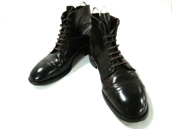 オールデン ショートブーツ 9 1/2 メンズ美品  ダークブラウン ANATOMICA レザー