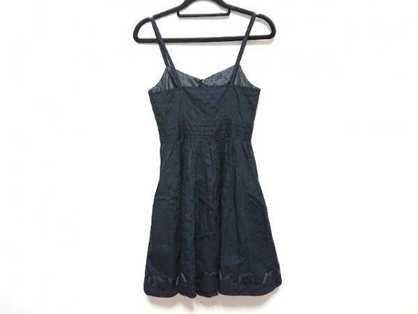 ジルスチュアート ワンピース サイズ0 XS レディース美品  黒 リボン/刺繍/フラワー