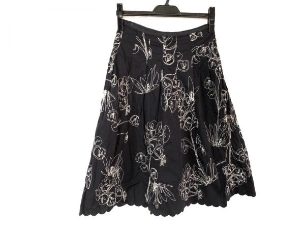 Lois CRAYON(ロイスクレヨン) スカート サイズM レディース 黒×白