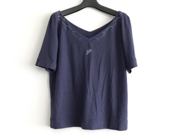 伊太利屋/GKITALIYA(イタリヤ) 半袖カットソー サイズ9 M レディース美品  ネイビー