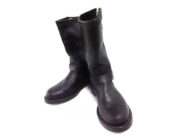 Chippewa(チペワ) ブーツ メンズ 黒 レザー