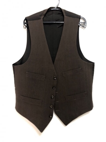 コムデギャルソンオム シングルスーツ サイズS メンズ美品  ダークブラウン 3ピース