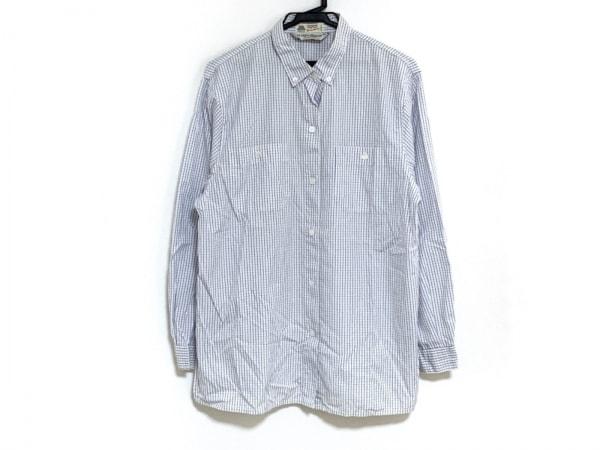 マリナリナルディ 長袖シャツ サイズ25 メンズ ブルー×白 チェック柄