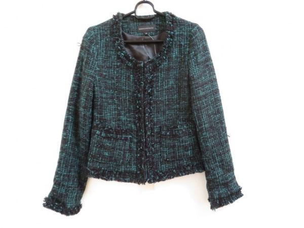 MERCURYDUO(マーキュリーデュオ) ジャケット サイズF レディース美品  黒×グリーン
