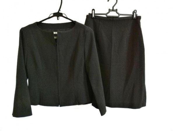 Opti(オプティ) スカートスーツ サイズ3 L レディース ダークグレー ジップアップ