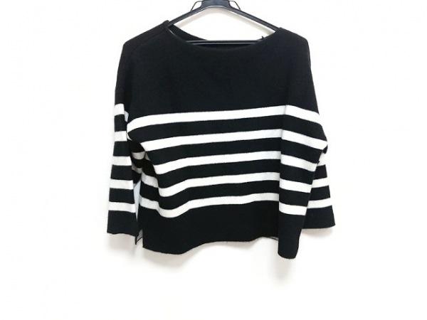 Letroyes(ルトロワ) 長袖セーター サイズS レディース新品同様  黒×白 ボーダー