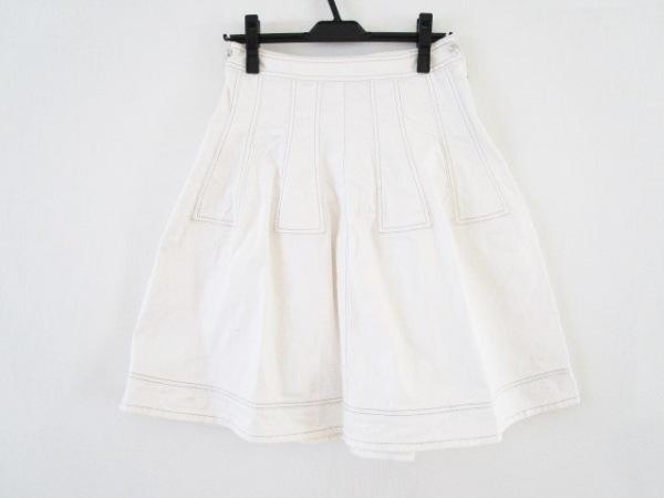 トゥービーシック スカート サイズ40 M レディース 白 デニム/ラメ/ラインストーン