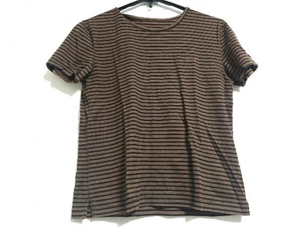 マドモアゼルノンノン 半袖Tシャツ サイズL レディース美品  ダークブラウン×黒
