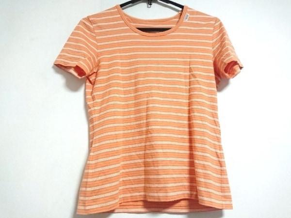 マドモアゼルノンノン 半袖Tシャツ サイズL レディース美品  オレンジ×白 ボーダー
