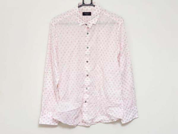 EPOCA(エポカ) 長袖シャツ サイズ46 XL メンズ 白×レッド 刺繍