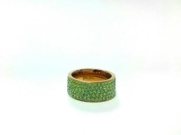 フォリフォリ リング美品  金属素材×カラーストーン ゴールド×ライトグリーン