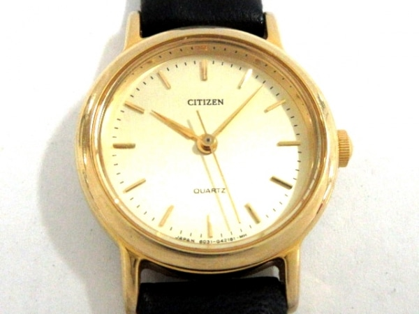 CITIZEN(シチズン) 腕時計美品  6031-G07532 レディース 革ベルト ゴールド