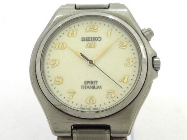 SEIKO(セイコー) 腕時計 4M21-0B50 メンズ アイボリー