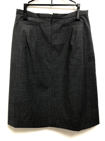 NOKO OHNO(ノコオーノ) スカート サイズ38 M レディース美品  ダークグレー×黒