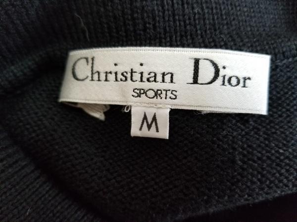 クリスチャンディオールスポーツ 長袖セーター サイズM レディース 黒×アイボリー