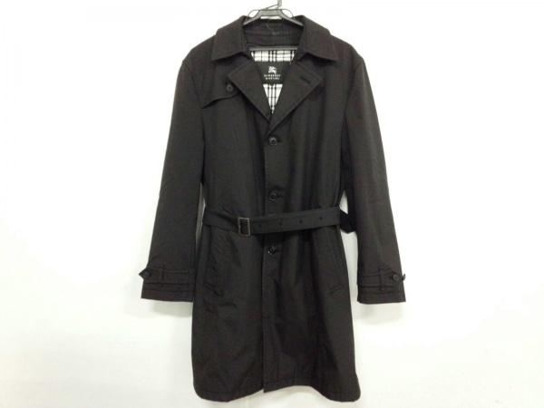 バーバリーブラックレーベル トレンチコート サイズL L メンズ 黒 冬物