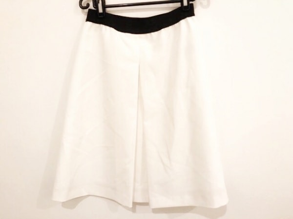 M.Fil(エム.フィル) スカート サイズ38 M レディース 白×黒