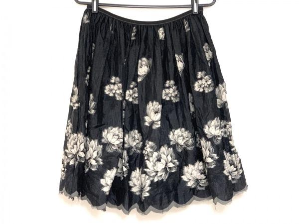 Lois CRAYON(ロイスクレヨン) スカート サイズM レディース 黒×アイボリー 花柄