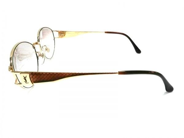 イヴサンローラン サングラス美品  31-0051 ダークブラウン×ゴールド
