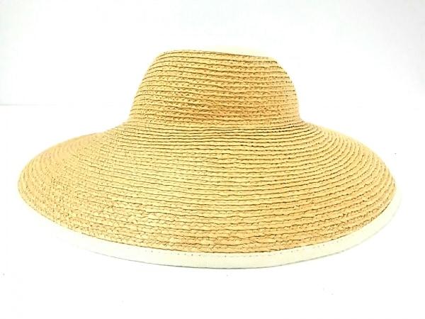 HELEN KAMINSKI(ヘレンカミンスキー) 帽子新品同様  ベージュ×アイボリー ラフィア