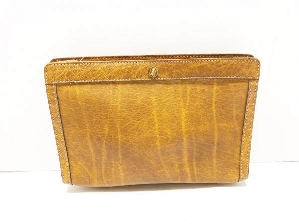 GOLD PFEIL(ゴールドファイル) セカンドバッグ ブラウン レザー