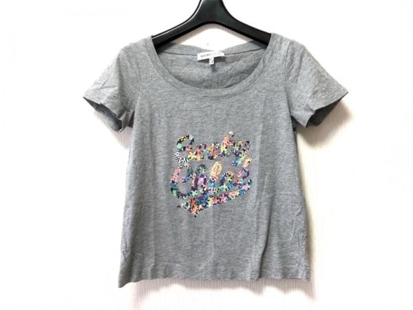 SEE BY CHLOE(シーバイクロエ) 半袖Tシャツ サイズI 38 レディース グレー×マルチ