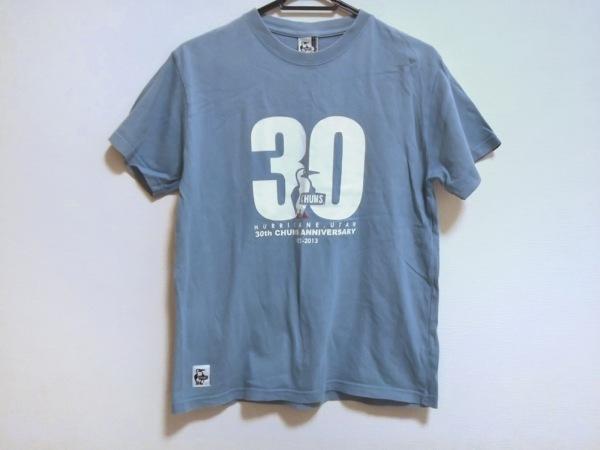 CHUMS(チャムス) 半袖Tシャツ サイズS レディース ライトブルー×白