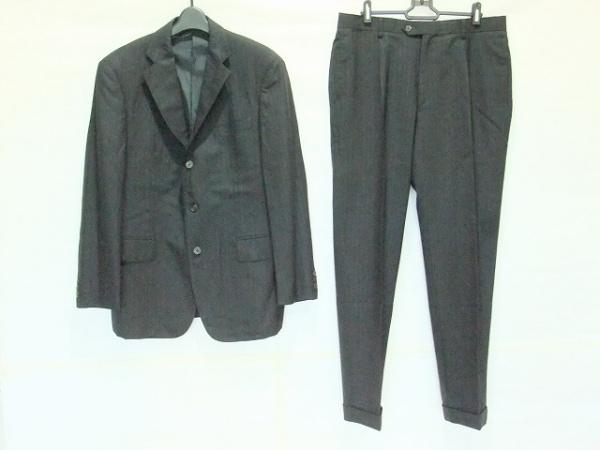 J.PRESS(ジェイプレス) シングルスーツ メンズ 黒 ネーム刺繍/ストライプ
