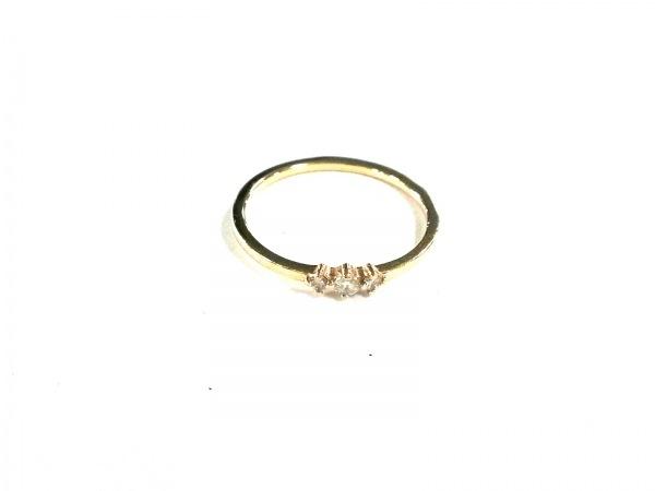 ete(エテ) リング美品  K18YG×ダイヤモンド サイズ:7/0.06カラット