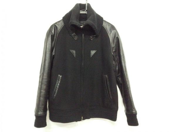LOUNGELIZARD(ラウンジリザード) ブルゾン サイズ3 L メンズ 黒 冬物/袖レザー
