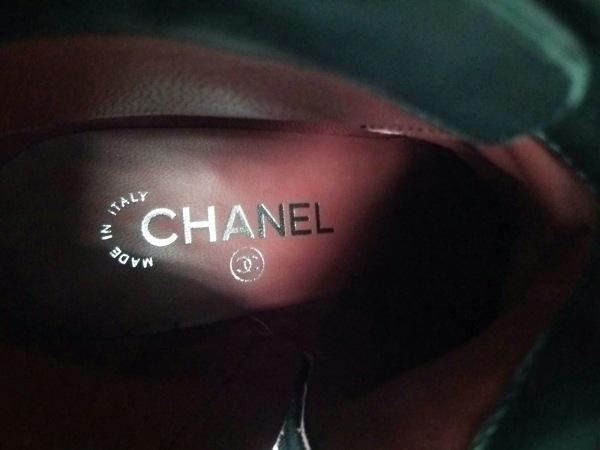 CHANEL(シャネル) ショートブーツ 35 レディース新品同様  黒 ココマーク レザー