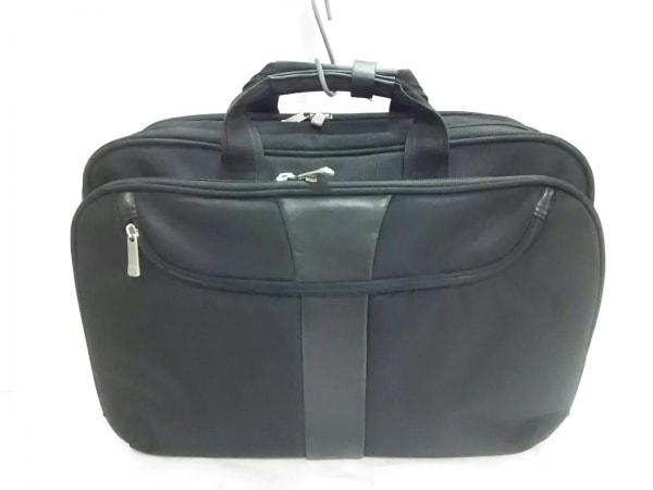 MaruemCrewBRONCO(マルエムクルーブロンコ) ビジネスバッグ美品  黒 ナイロン×レザー