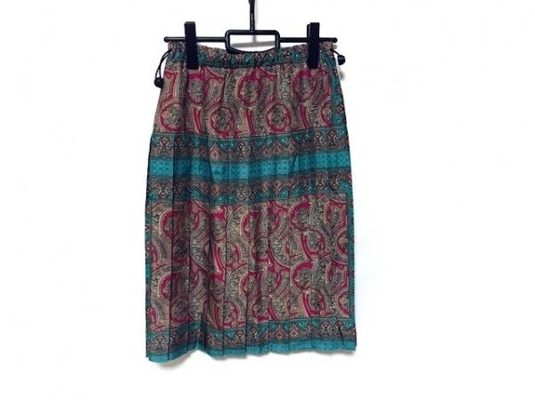 コキュ スカート サイズ3 L レディース新品同様  ライトブラウン×ピンク×マルチ