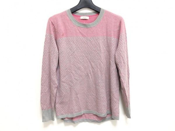 PaulSmith(ポールスミス) 長袖セーター サイズM レディース グレー×ピンク