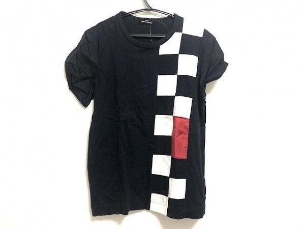 トリココムデギャルソン 半袖Tシャツ レディース ダークネイビー×白×レッド