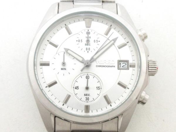 WIRED(ワイアード) 腕時計美品  VD57-KZ10 メンズ クロノグラフ シルバー