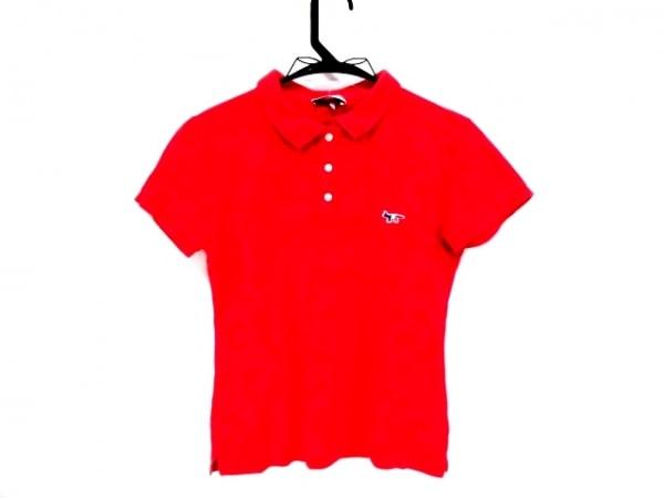 Kitsune(キツネ) 半袖ポロシャツ サイズS レディース レッド Parisien