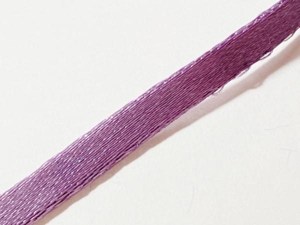 アガタ チョーカー美品  化学繊維×金属素材 パープル×シルバー 3