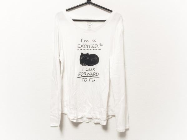 gelato pique(ジェラートピケ) 長袖Tシャツ サイズF レディース ピンク×黒 猫